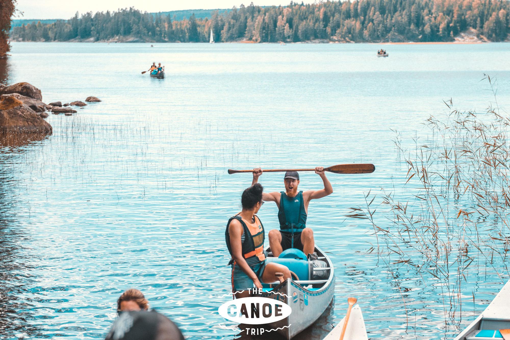 Op kano-trip in Scandinavië., Travelbase