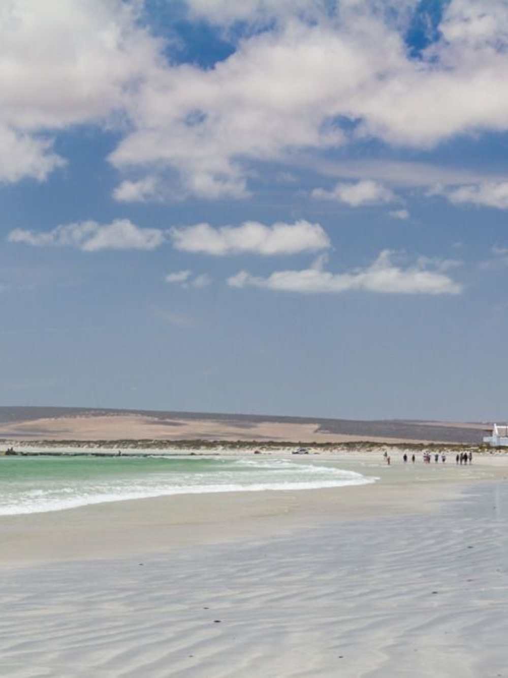Plage de Paternoster où se situe le Wolfgat, sur la côte sud africaine, iStock