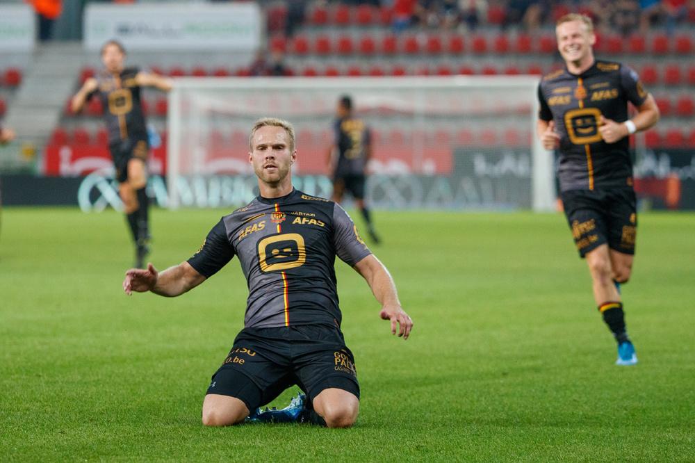 Engvall scoorde de 0-2 aan de Gaverbeek., belgaimage