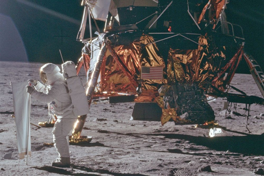 Apollo 11 est la première mission à poser un équipage sur la Lune., Nasa
