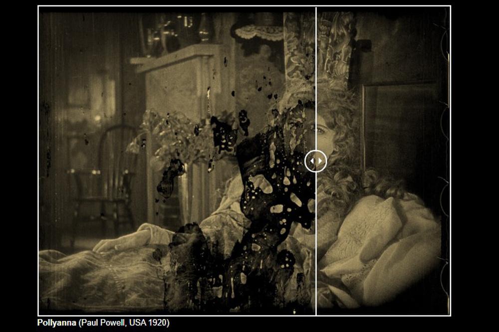 Voor en na: dit kunnen de restaurateurs van Cinematek met beschadigde filmrollen doen., Cinematek/screenshot