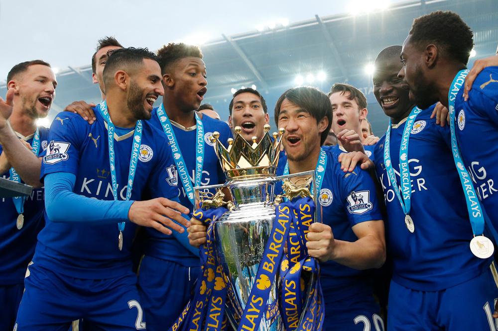 Okazaki kende een waanzinnig openingsseizoen met Leicester., Reuters Pictures