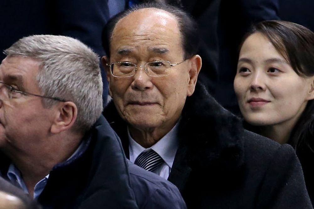 Kim Yong-nam suivi de Kim Yo-jong, soeur de Kim Jong-un, Getty Images
