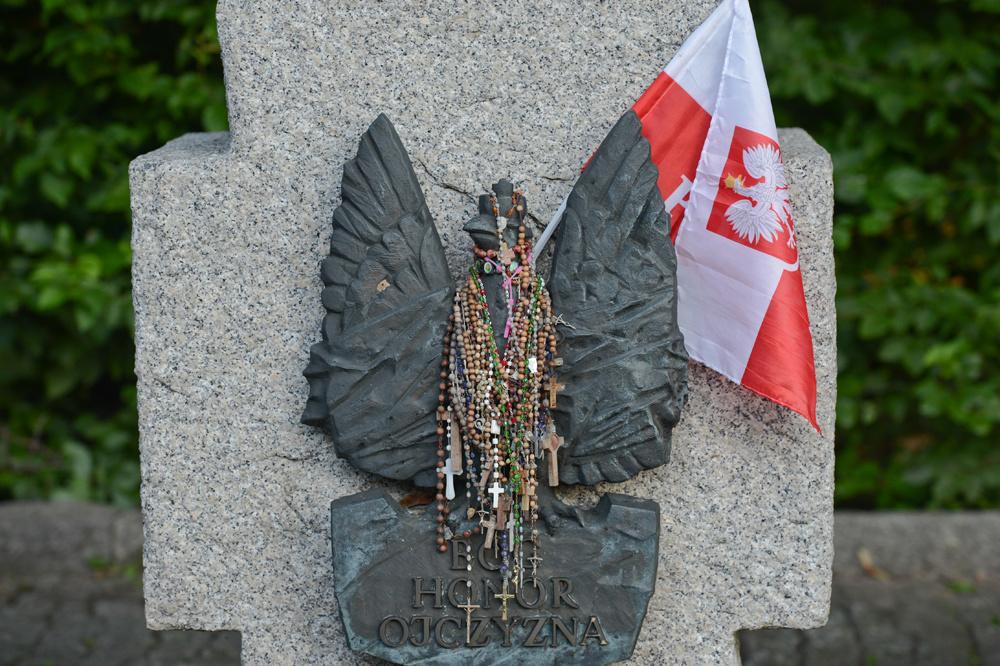 Herdenkingsplaat in Gdansk, Polen., Getty Images