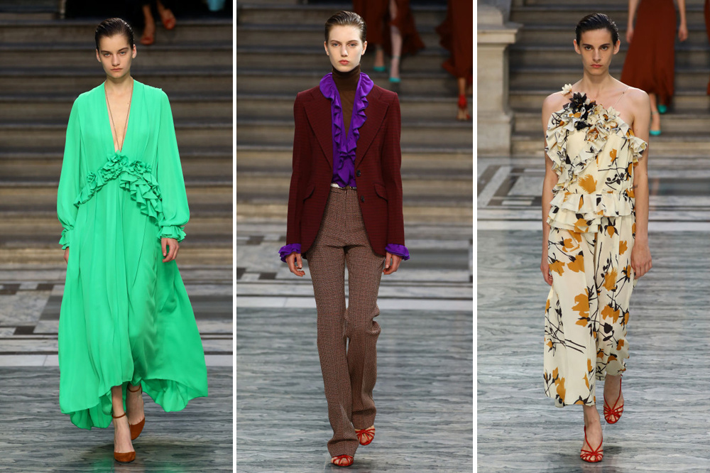 De show van Victoria Beckham op de London Fashion Week., Getty Images