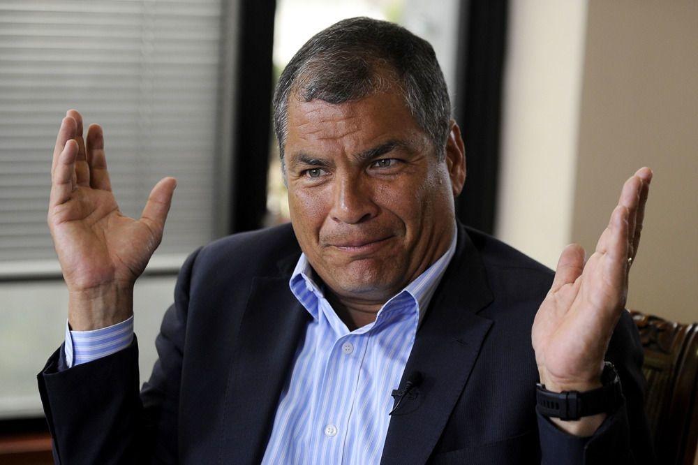 Rafael Correa, en janvier 2018 à Quito, AFP