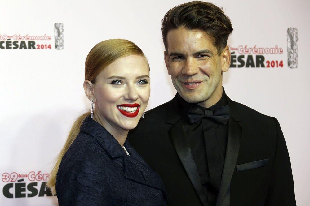 Scarlett Johansson et son deuxième mari, Romain Dauriac , Reuters
