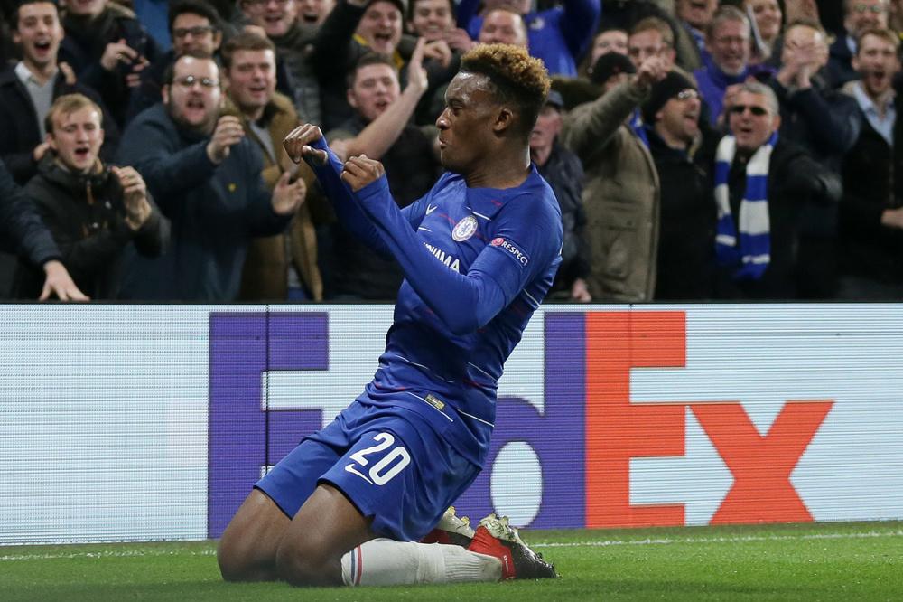 Hudson-Odoi was één van de weinige lichtpuntjes vorig seizoen bij Chelsea., belgaimage