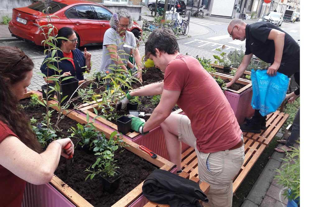 De trottoirterrassen van de Pieter Génardstraat in Antwerpen willen een voorbeeld vormen voor burgers en beleidsmakers, GF