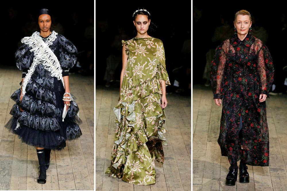 Enkele looks uit de show van Simone Rocha op de London Fashion Week., Belga Image