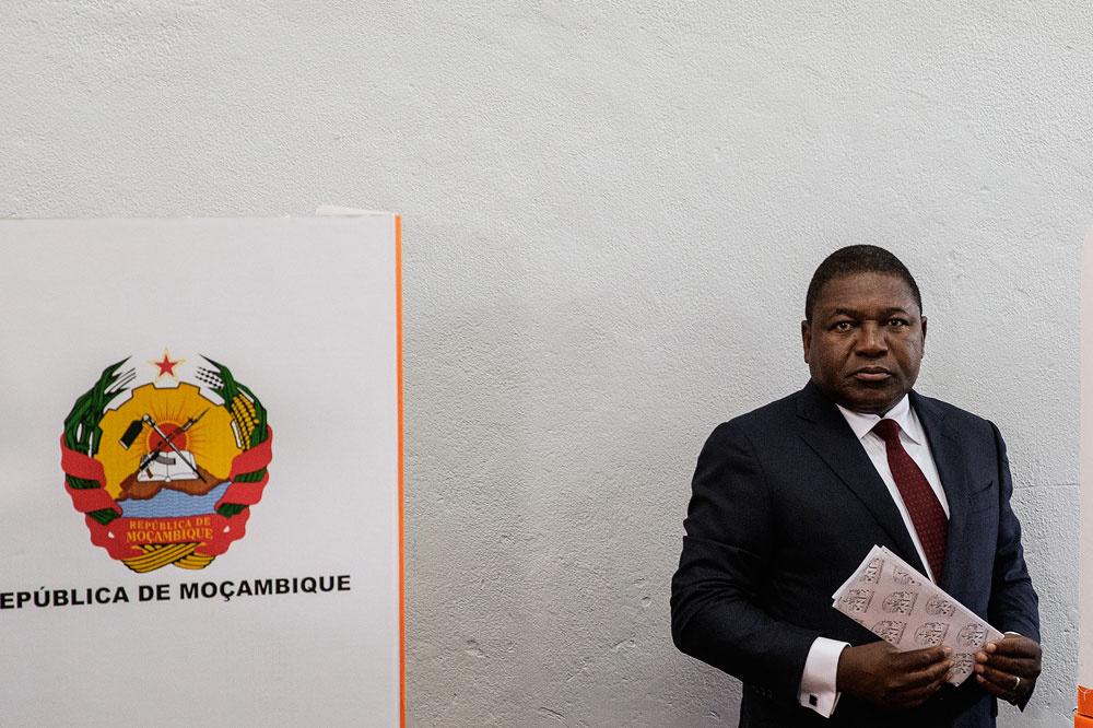 Le président du Mozambique Felipe Nyusi, Belga