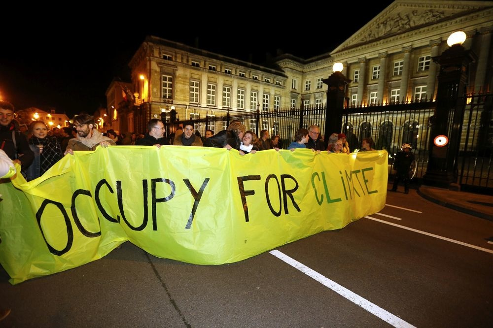 Occupy for Climate in Brussel, Belga Image