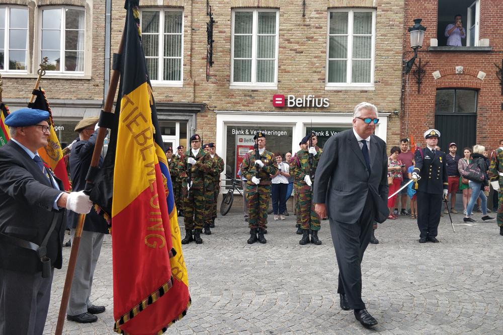 prince Laurent à Bruges pour le Te Deum, le 21 juillet 2019, Belga