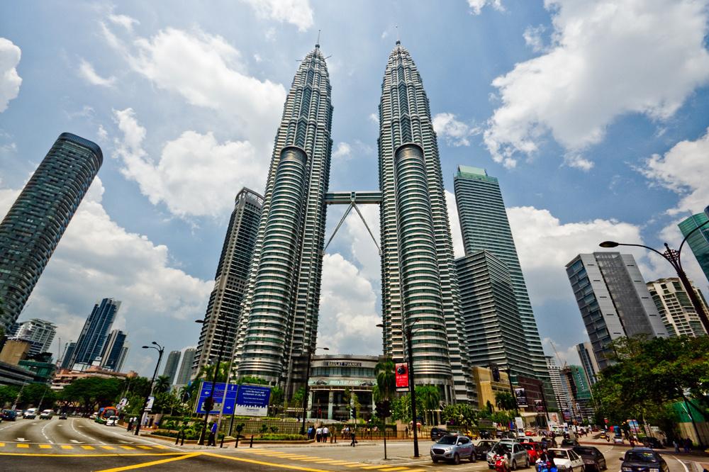 Les tours Petronas à Kuala Lumpur, Getty Images