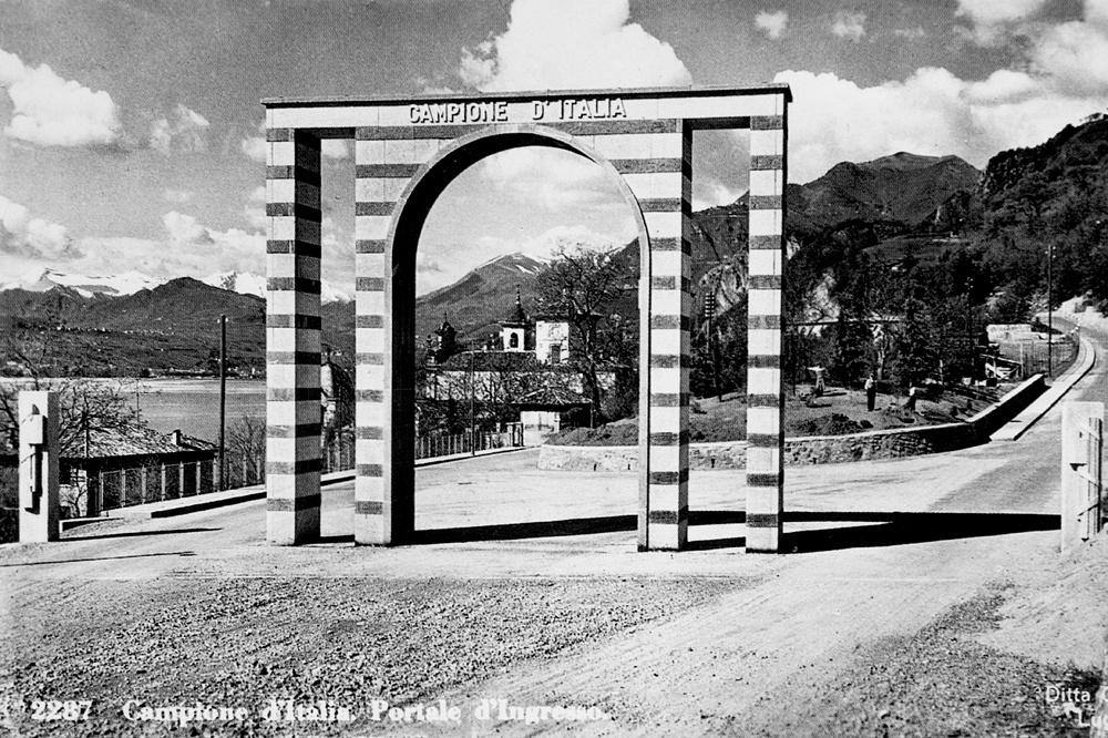 L'entrée de Campione d'Italia, en 1937, Getty Images
