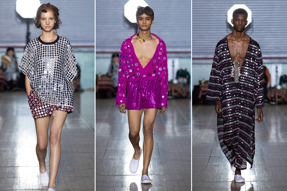 De show van Ashish op de London Fashion Week., Getty Images