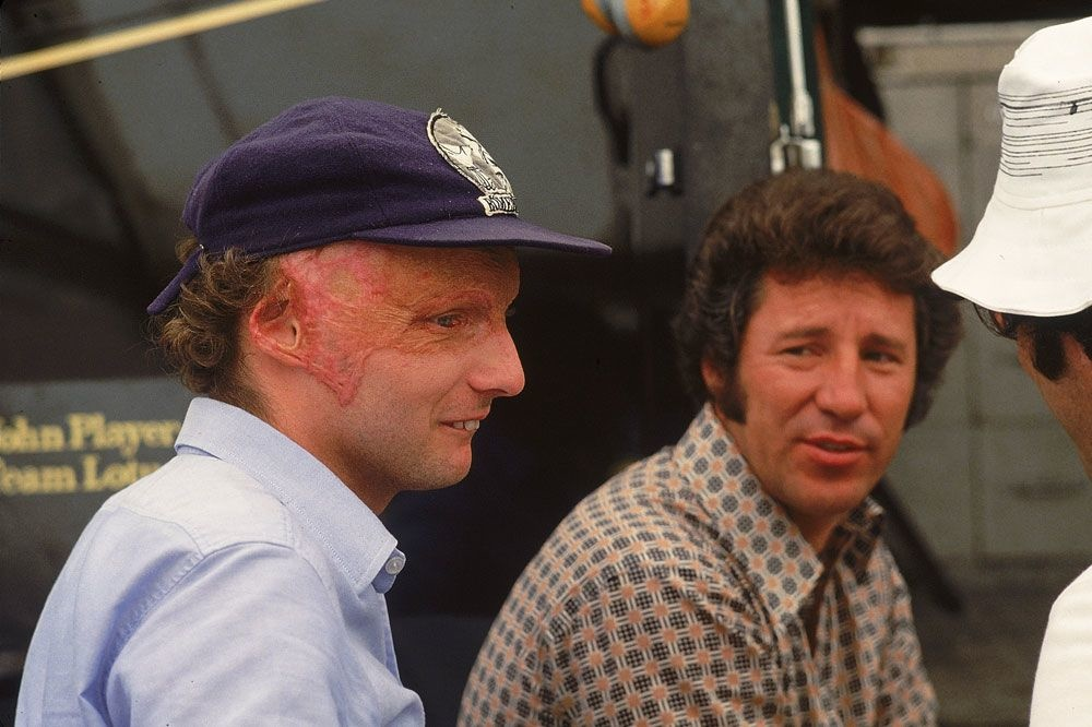 Le champion, après le crash de Nurburgring en août 1976, Getty Images
