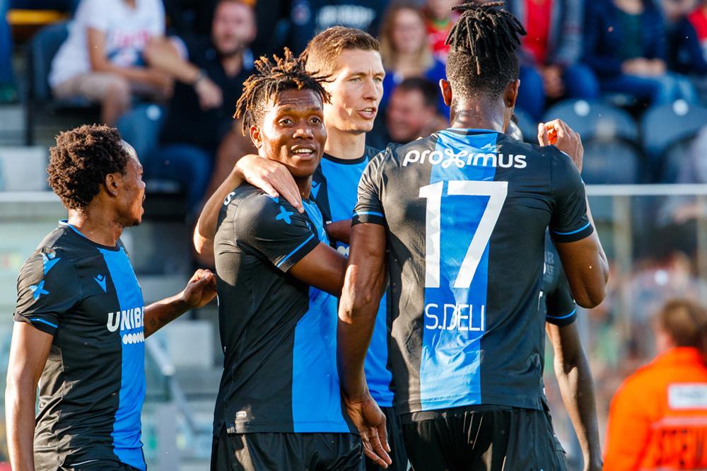 Okereke na zijn doelpunt tegen KV Oostende (0-2 zege)., belgaimage