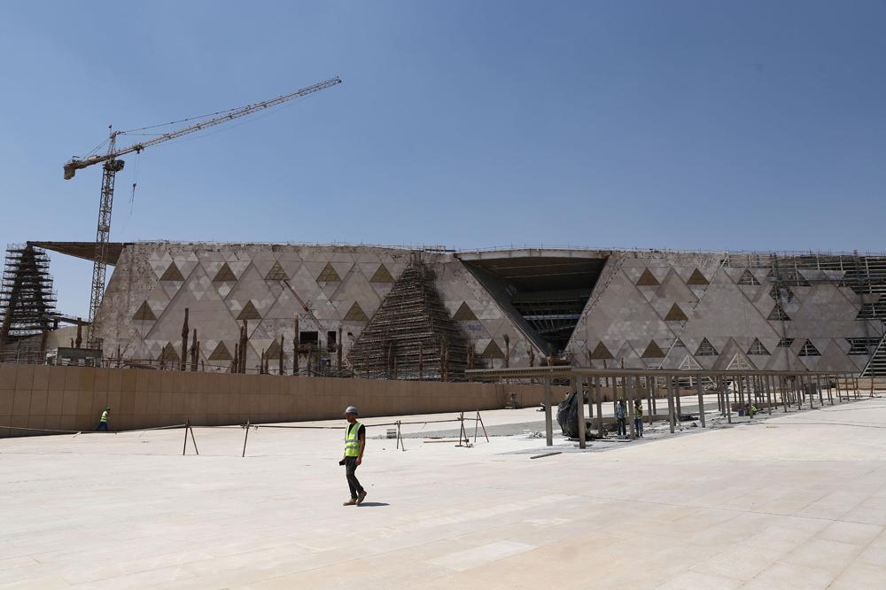 Grand musée du Caire, en construction, AFP