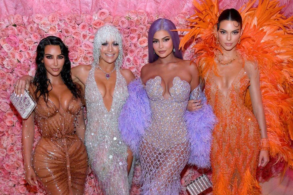 Kim Kardashian West, Jennifer Lopez, Kylie Jenner en Kendall Jenner, Getty