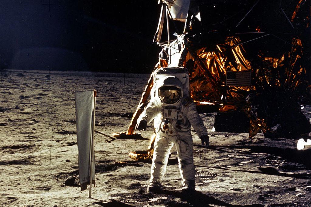 Herbeleef de eerste maanlanding van 21 juli in Genk., Getty / Nasa