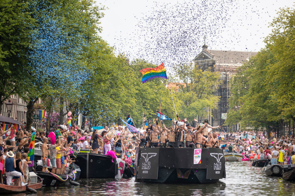Canal Parade in Amsterdam., Getty