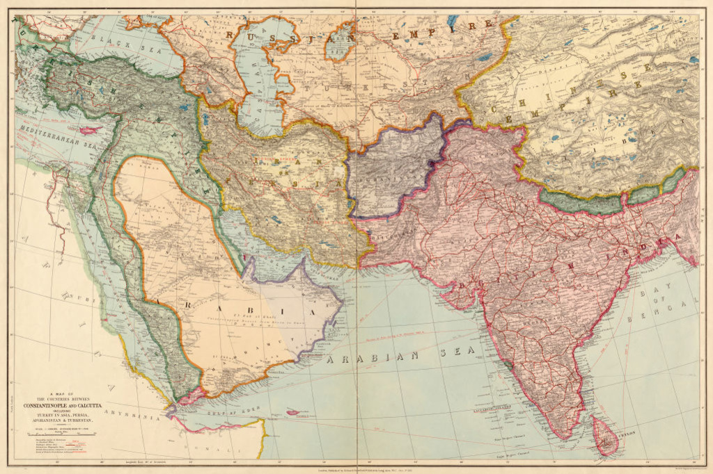 Carte d'Asie 1912, Getty Images/iStock