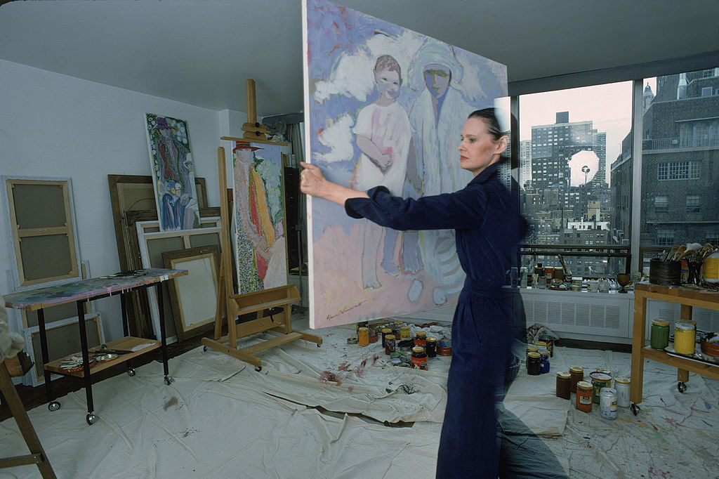 In haar studio in New York (1976), Getty