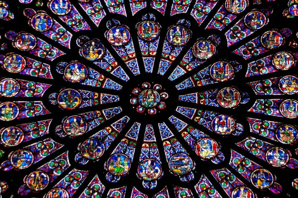Une des rosaces de Notre Dame de Paris, Getty Images