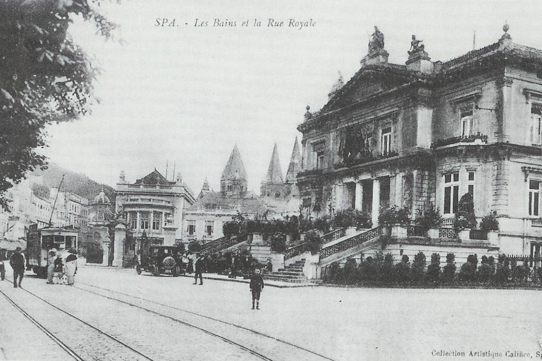 Le Bâtiment des Bains sur la rue Royale à Spa (fin 19e siècle), Inconnu