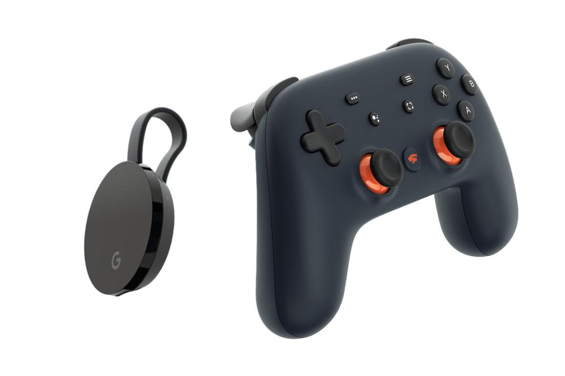 Chromecast Ultra et Stadia controller, Google