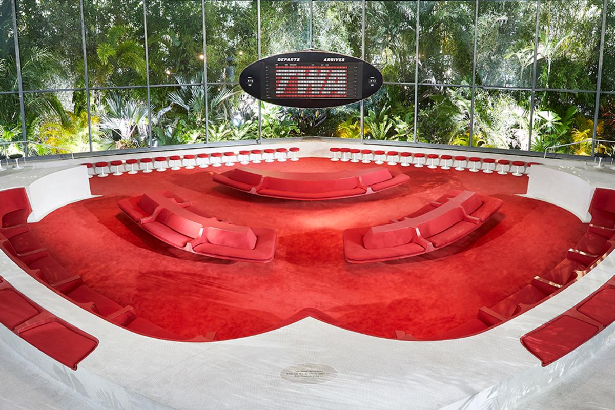 De indrukwekkende hotellobby die het publiek in primeur te zien kreeg., Belga Image