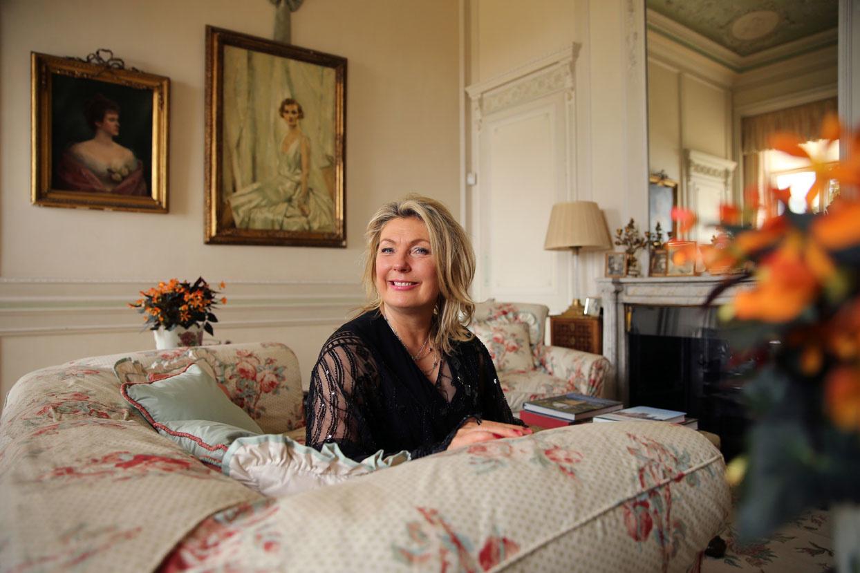 Lady Carnarvon, propriétaire de Highclere castle, fameux château de la série Downtown Abbey, AFP