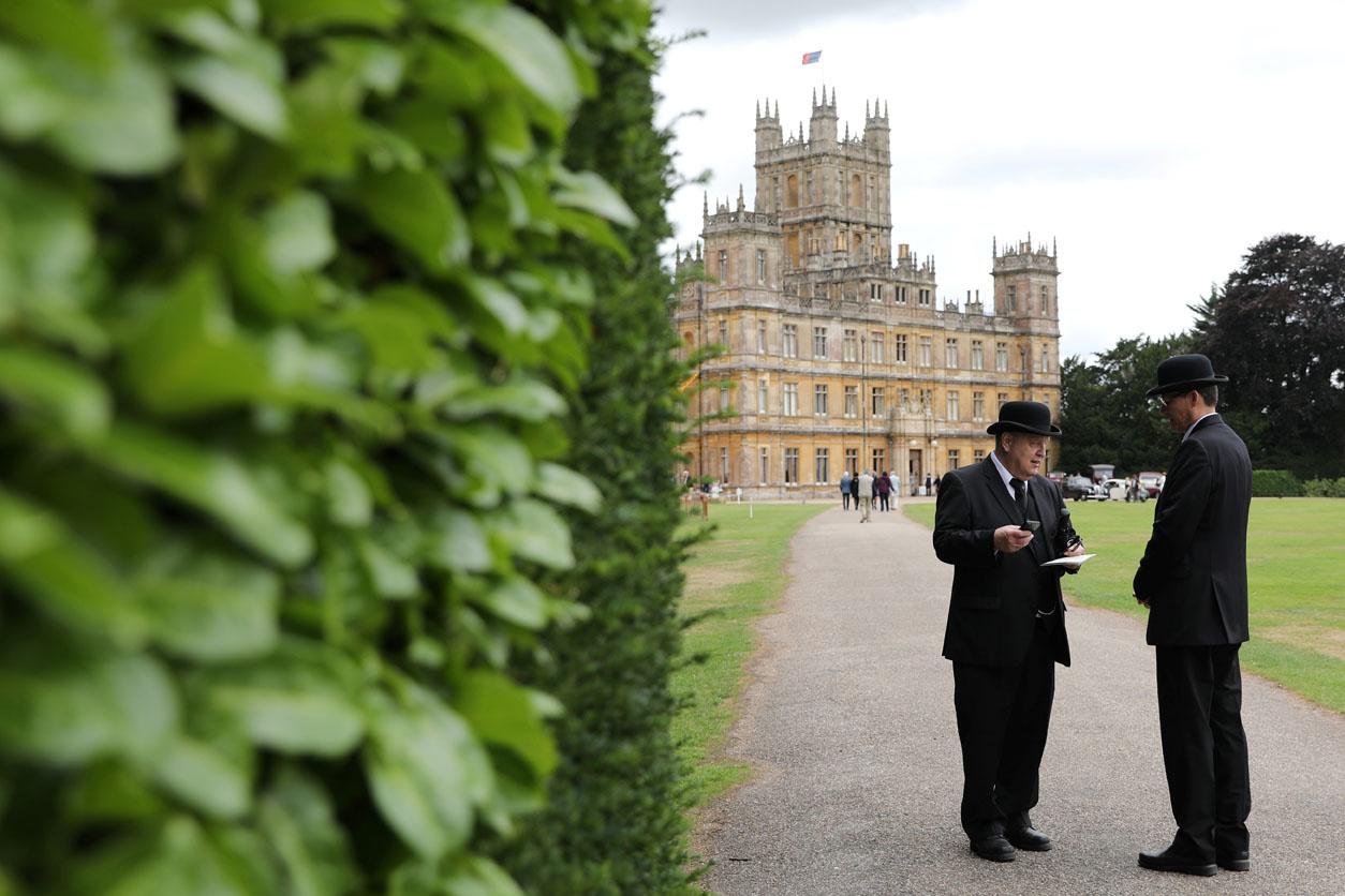 Highclere castle, fameux château de la série Downtown Abbey, AFP