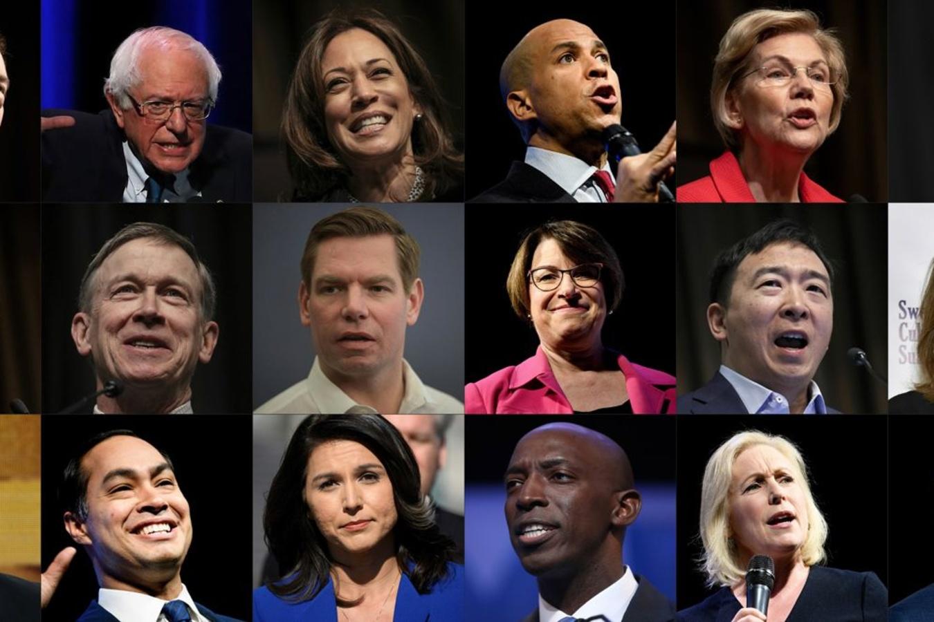 Les 18 candidats aux éléctions américaines de 2020, Reuters