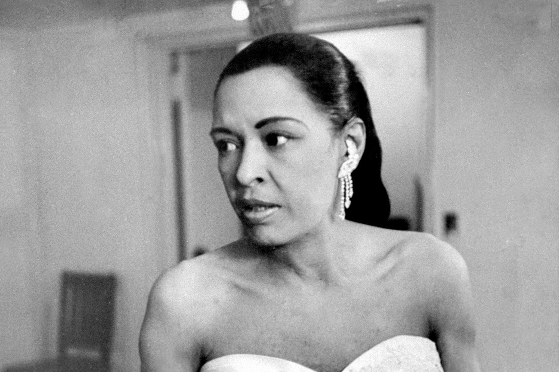 Billie Holidays dans les coulisses d'un de ces derniers grands concerts avant de tomber malade, Getty