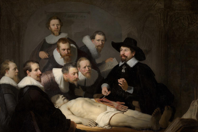 """""""La leçon d'anatomie du docteur Nicolaes Tulp"""", Rembrandt, 1632, Mauritshuis, La Haye"""