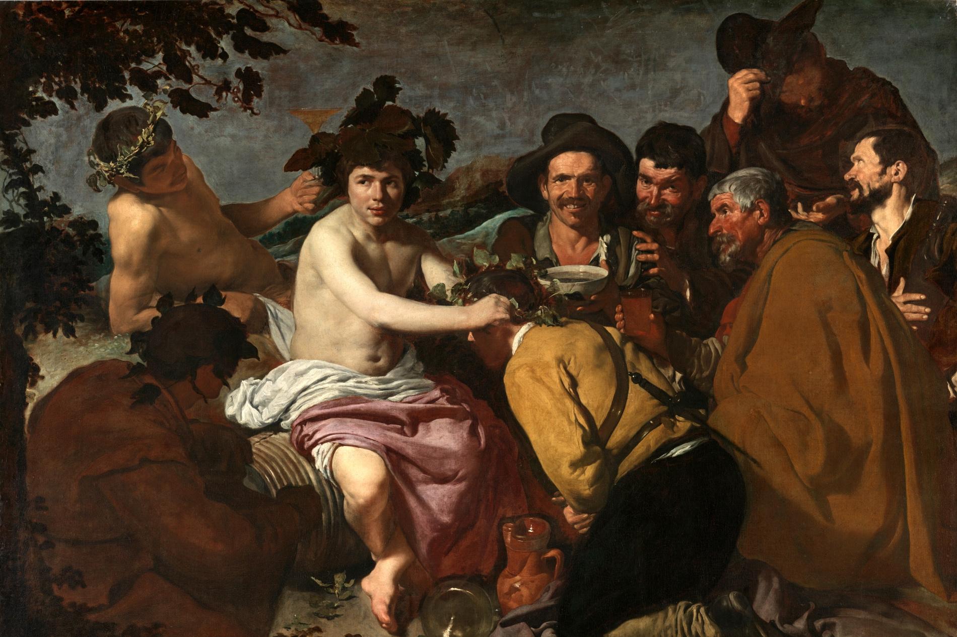 """""""Le triomphe de Bacchus"""", Velasquez, Musée National du Prado, Madrid, Domaine public"""