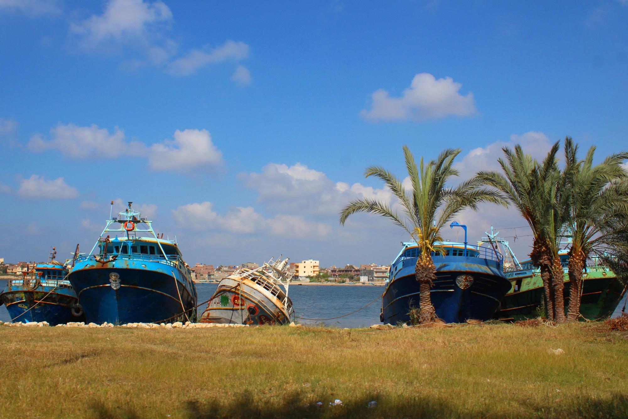 Een haven in Rashid, Getty