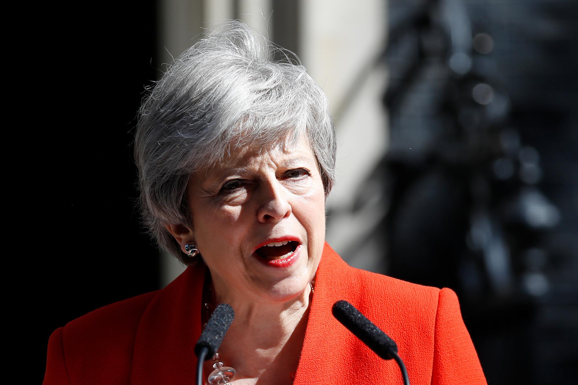 Theresa May, AFP