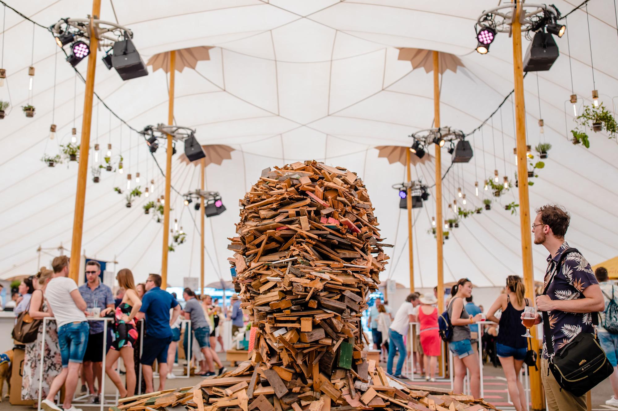 Ook voor kunst is er plaats op Foodfest., Leyla Hesna