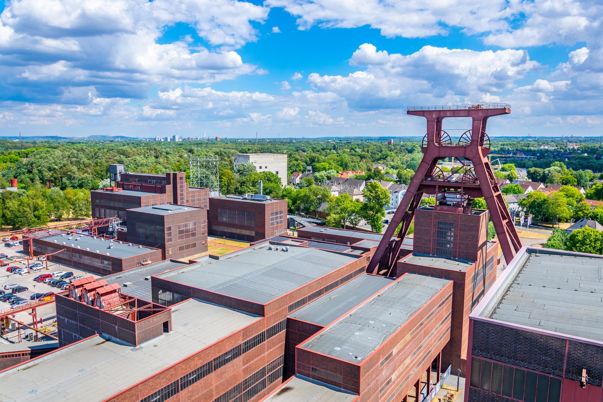 Zeche Zollverein, een centrum voor musea, festivals en sportieve activiteiten, Getty