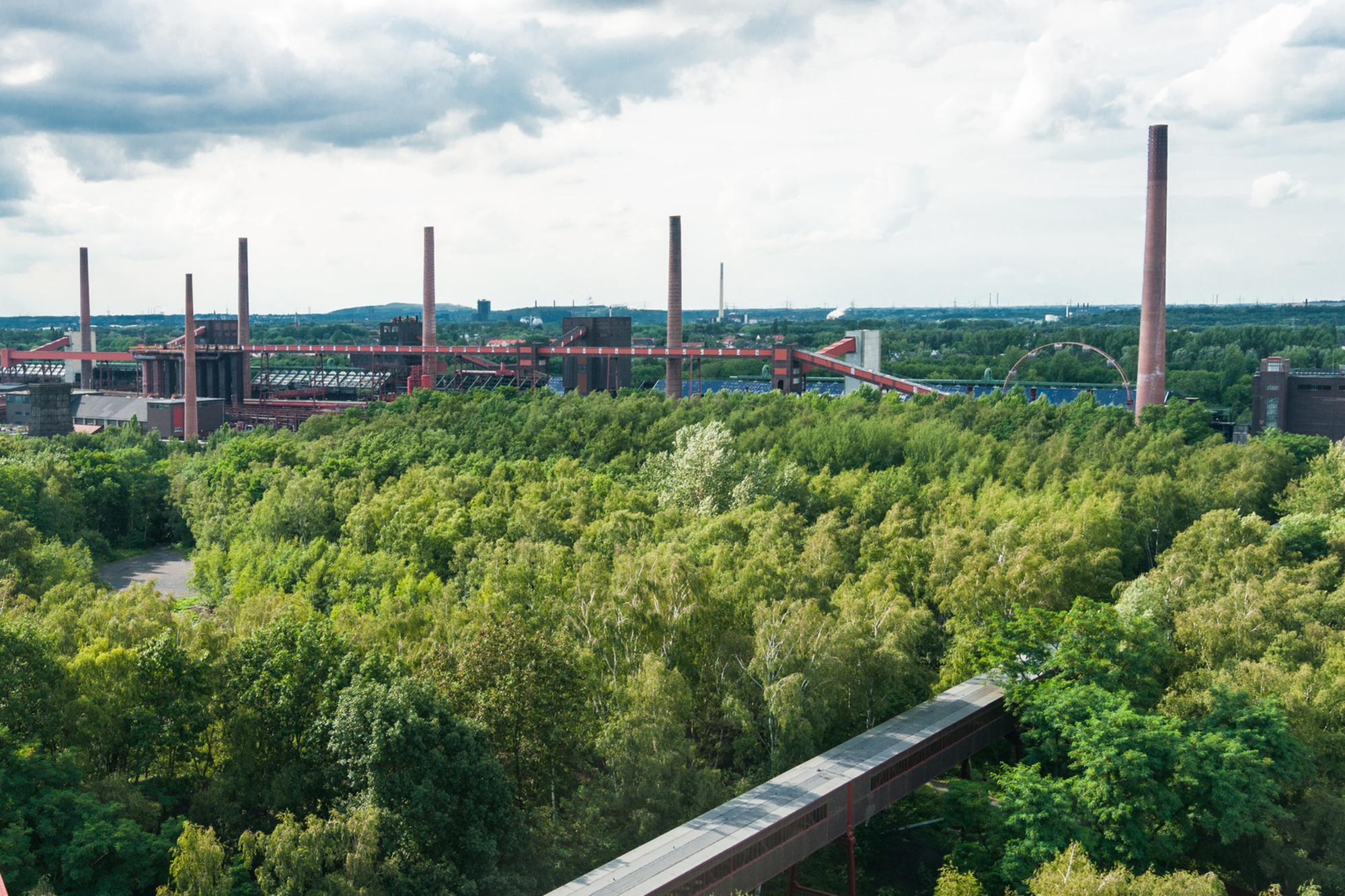 In 2017 werd Essen uitgeroepen tot de Groene Hoofdstad van Europa, Getty