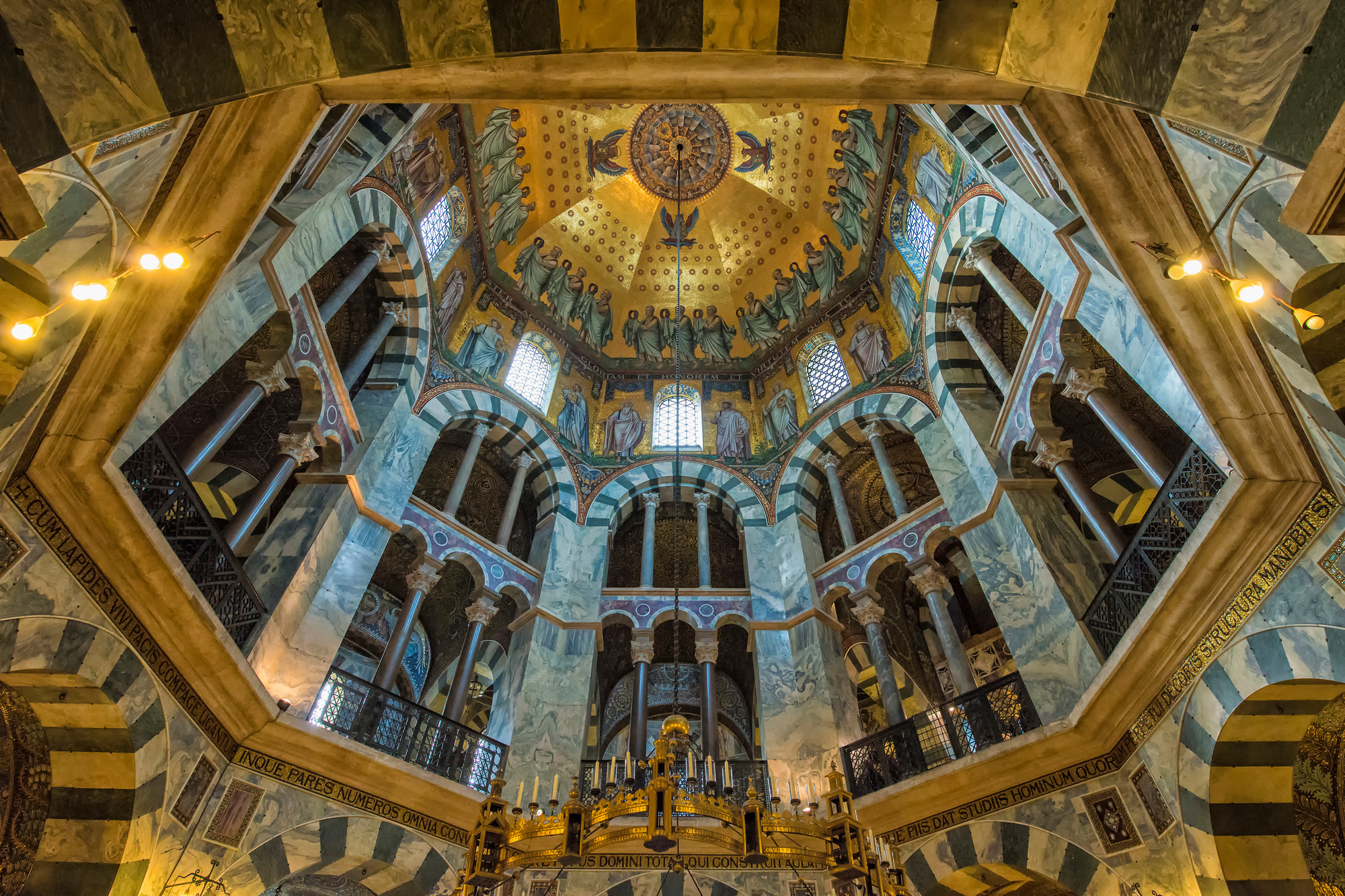 La cathédrale d'Aix-la-Chapelle, patrimoine mondial de l'Unesco, Getty