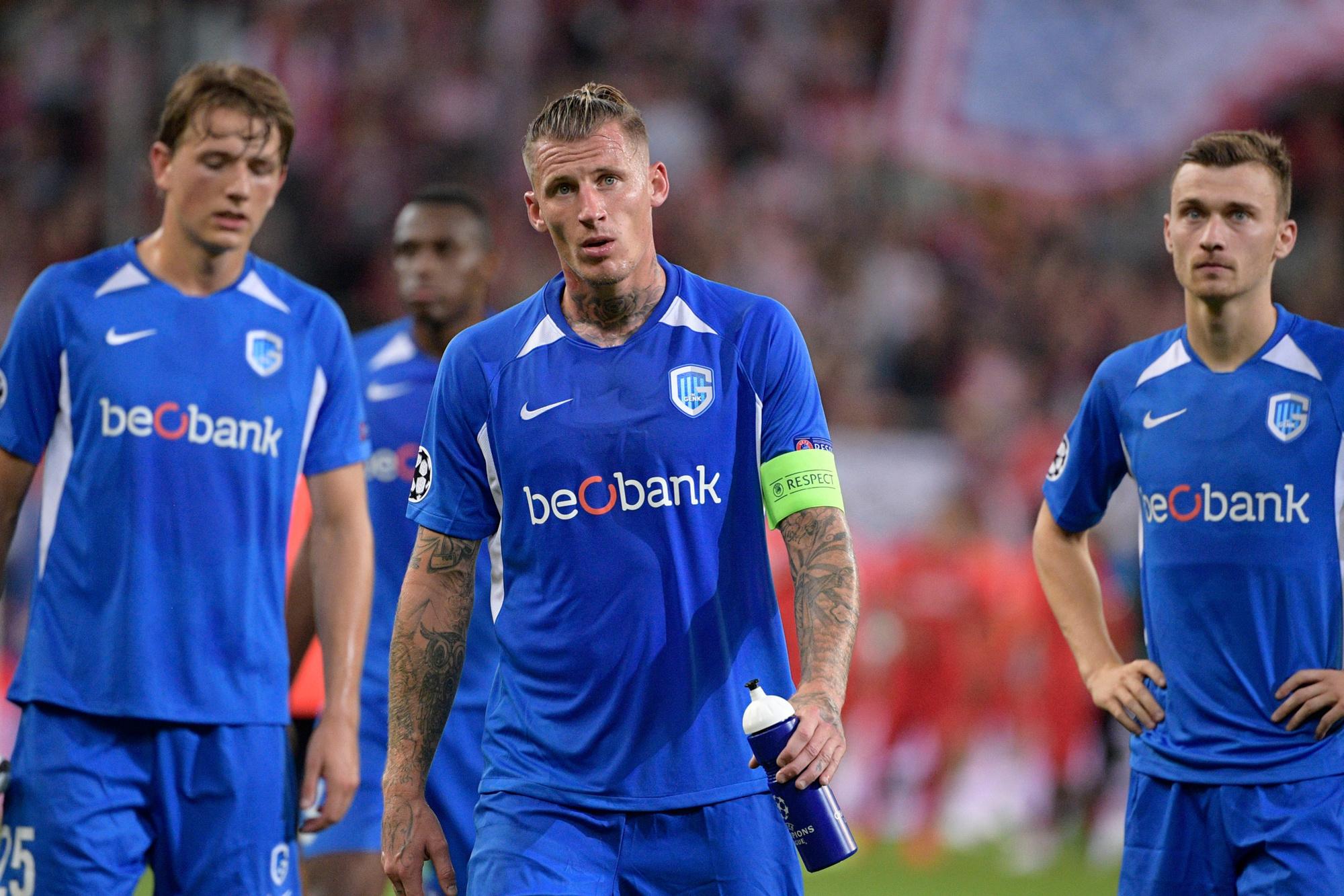 De spelers van KRC Genk kunnen het nauwelijks geloven., Belga Image