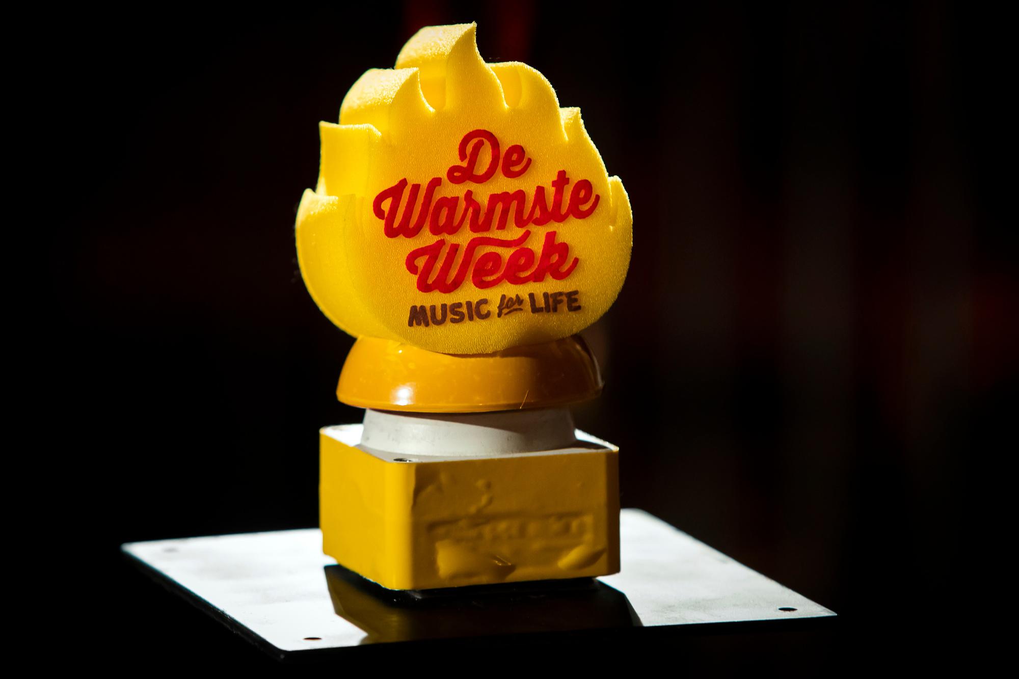 Le trophée de Warmste week (Music for Life)., DR