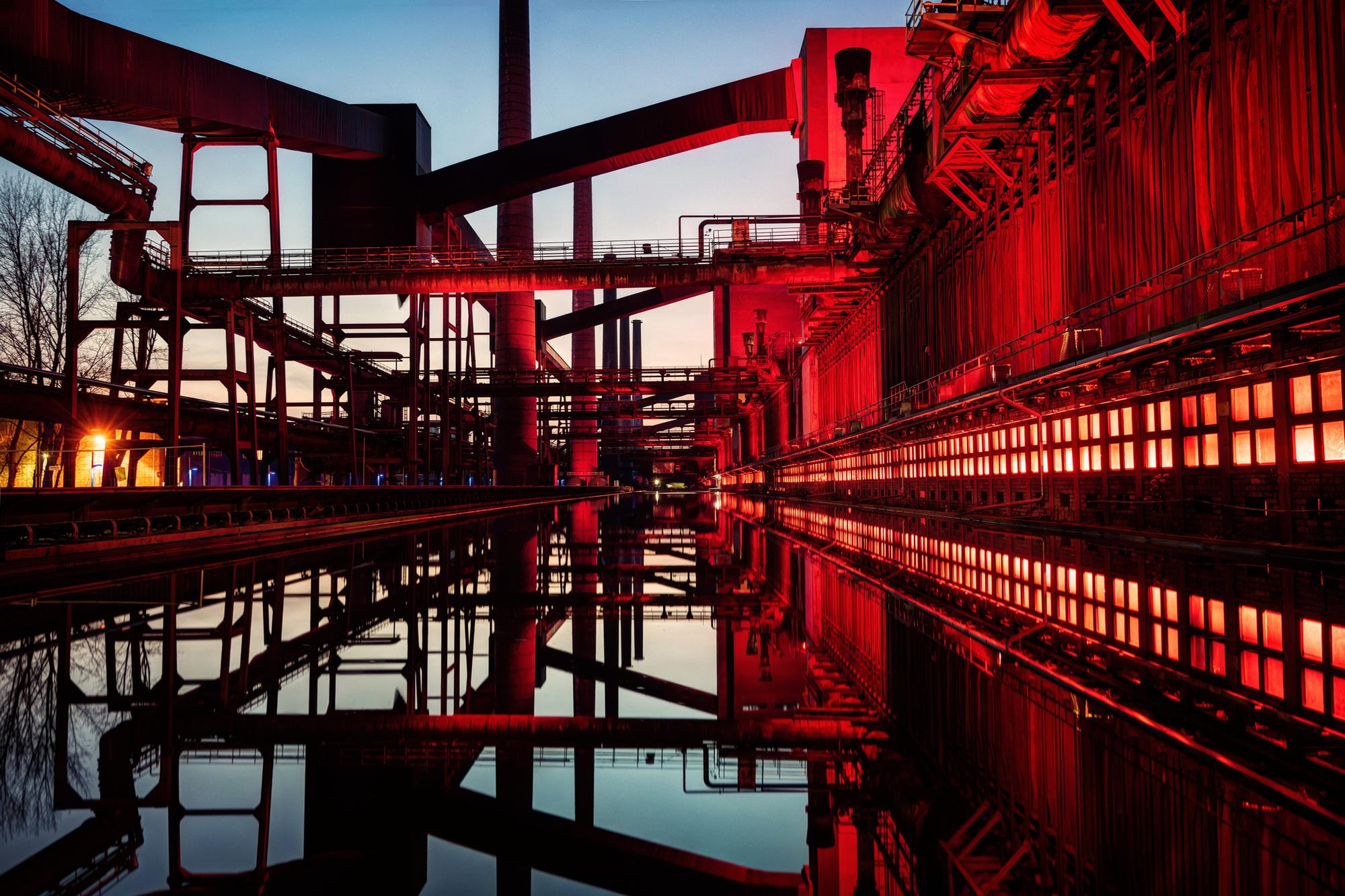 Zollverein, een Centre Pompidou-achtig complex, Getty