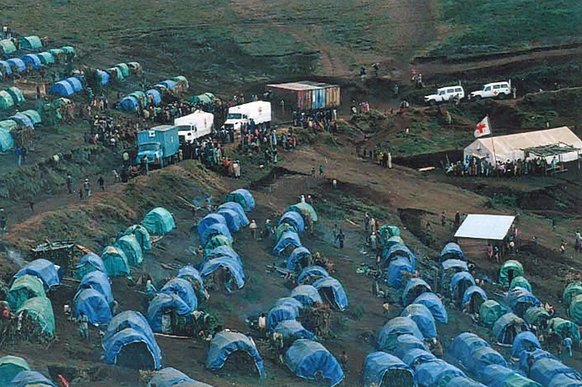 Le camp de réfugiés de Nyarushishi (Cynagugu), sous protection du CICR., G. Thierry