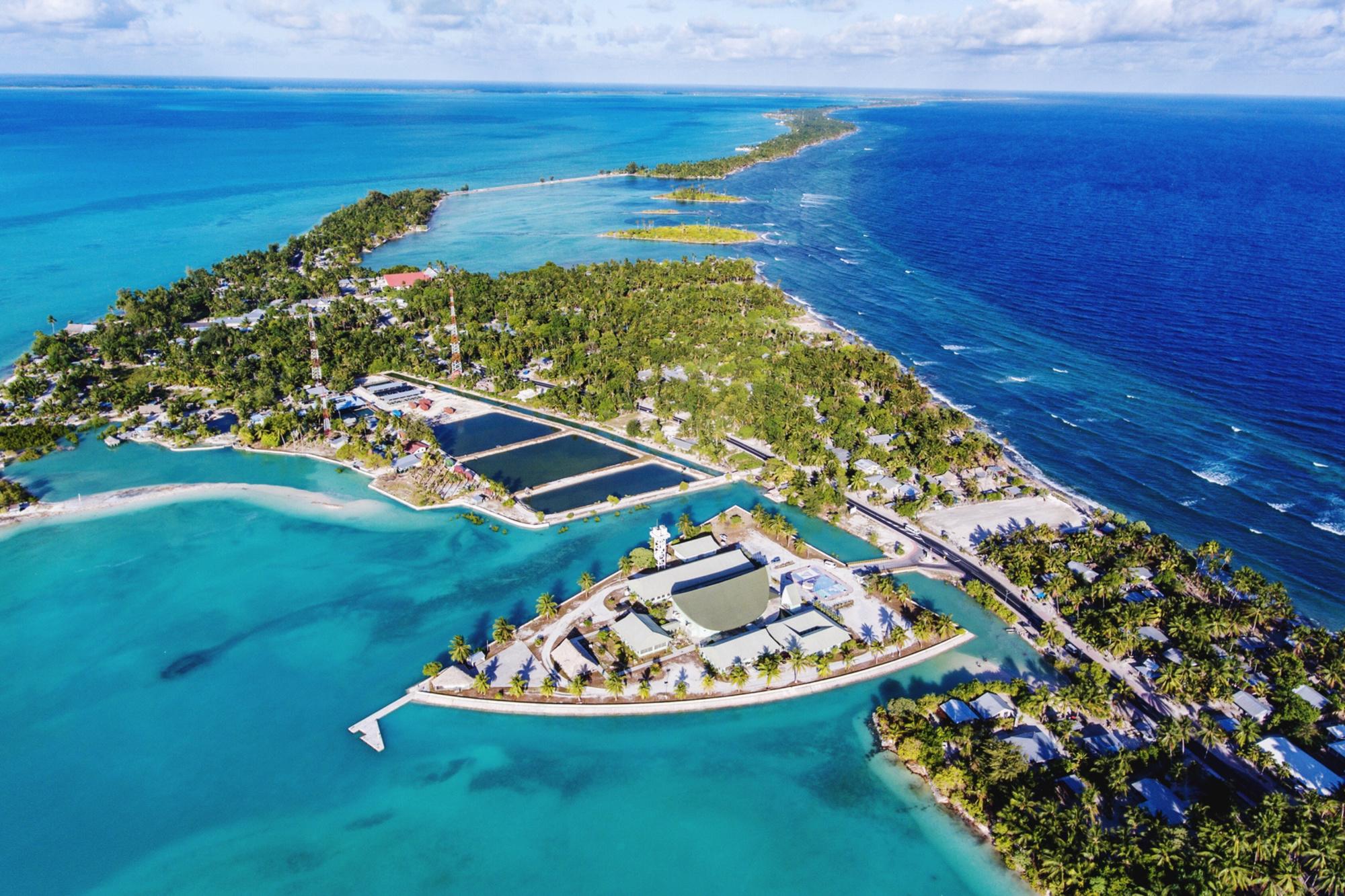 De Republiek Kiribati ligt in de Grote Oceaan, Getty