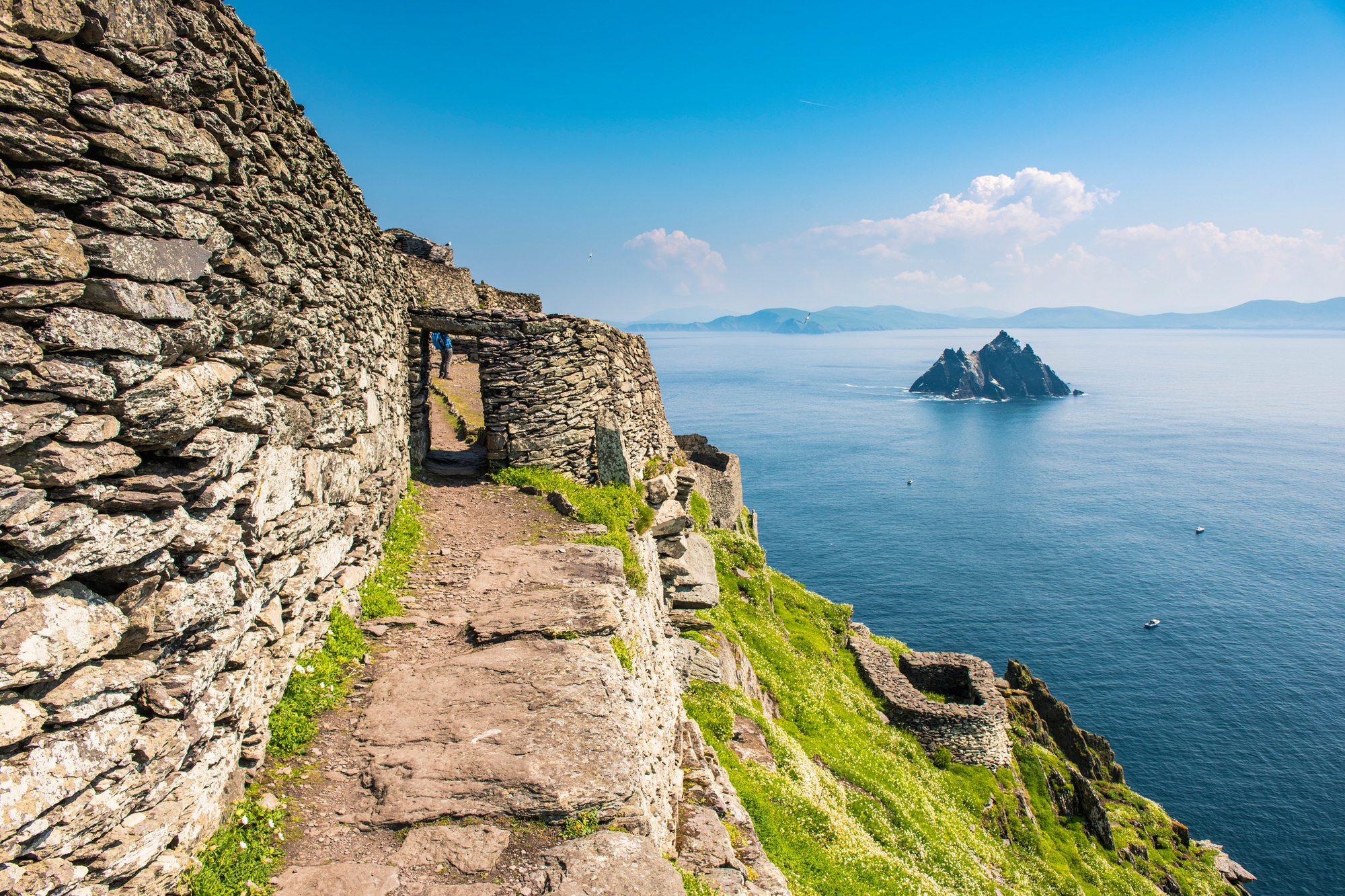 Skellig Michael, bekend van 'Star Wars', Getty